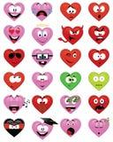 Caras sonrientes en forma de corazón Imagen de archivo