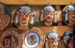 Caras suramericanas del ídolo del tótem del recuerdo de los indios Imágenes de archivo libres de regalías