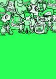 Caras verdes de la cubierta Foto de archivo libre de regalías
