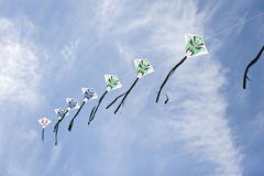 Caras verdes en cometas foto de archivo libre de regalías