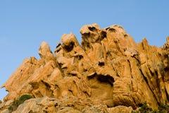 Caras y animales de la gente de las rocas Fotografía de archivo