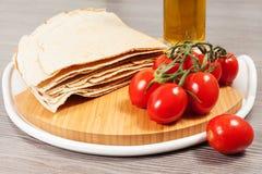 Carasau-Brot von Sardinien Italien Lizenzfreies Stockbild