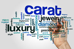 Carat word cloud concept on grey background Royalty Free Stock Image