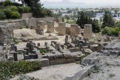 Caratagina在突尼斯 免版税库存照片