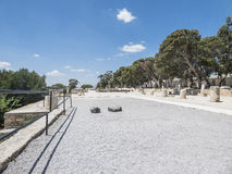 Caratagina in Tunisia. Ruins of Cartagina - monument in Tunisia and part of Musem building stock photography