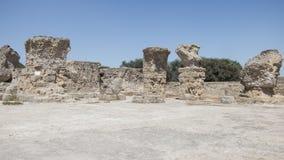 Caratagina in Tunisia. Ruins of Cartagina - monument in Tunisia. Thermes of Antonin stock images