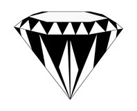 Carati della pietra di gemma del diamante Fotografia Stock Libera da Diritti