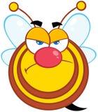 Carattere arrabbiato della mascotte del fumetto dell'ape Immagine Stock Libera da Diritti