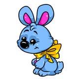 Carattere blu dell'animale dell'illustrazione del coniglio Fotografie Stock Libere da Diritti