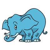 Carattere blu dell'animale dell'illustrazione dell'elefante Immagini Stock