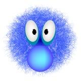 Carattere blu di animazione illustrazione di stock