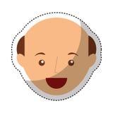 carattere calvo dell'avatar del giovane Immagine Stock