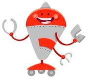 Carattere comico del fumetto divertente del robot illustrazione vettoriale