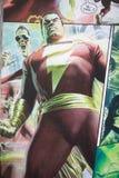 Carattere comico del supereroe di Shazam fotografie stock libere da diritti
