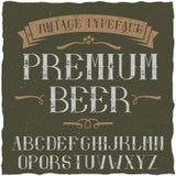 Carattere d'annata dell'etichetta nominato Premium Beer Immagini Stock Libere da Diritti