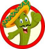 Carattere del cactus del fumetto Immagine Stock Libera da Diritti
