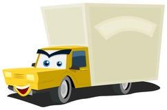 Carattere del camion di consegna del fumetto Immagine Stock