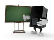 Carattere del computer con la lavagna in bianco illustrazione vettoriale