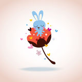 Carattere del coniglietto nell'amore Fotografie Stock