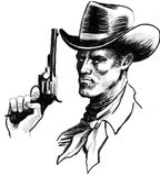 Carattere del cowboy Immagini Stock