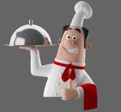 carattere del cuoco del fumetto 3d Fotografia Stock