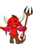 Carattere del diavolo - indicando illustrazione vettoriale
