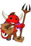 Carattere del diavolo - tenere un pacchetto illustrazione di stock