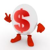 Carattere del dollaro Immagine Stock