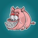 Carattere del mostro del maiale Fotografie Stock Libere da Diritti