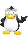 Carattere del pinguino - indicando illustrazione vettoriale