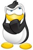Carattere del pinguino - pensando illustrazione vettoriale