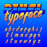 Carattere del pixel Retro fonte di alfabeto del videogioco arcade Lettere minuscole dello scritto royalty illustrazione gratis