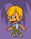 Carattere del ragazzo dell'agricoltore di condizione del fumetto illustrazione di stock