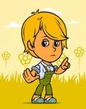 Carattere del ragazzo dell'agricoltore di condizione del fumetto illustrazione vettoriale