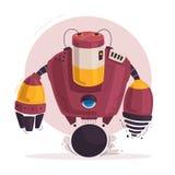 Carattere del robot Tecnologia, futuro Illustrazione di vettore del fumetto illustrazione vettoriale