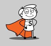 Carattere del supereroe del fumetto illustrazione di stock