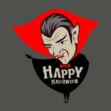 Carattere del vampiro di Halloween di Conte Dracula di vettore Immagine Stock Libera da Diritti