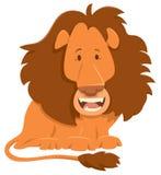 Carattere dell'animale del fumetto del leone Fotografia Stock Libera da Diritti