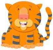 Carattere dell'animale del fumetto della tigre Fotografia Stock