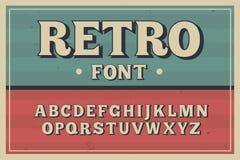 Carattere dell'annata di vettore Retro fonte tipografica Fotografie Stock