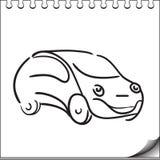 Carattere dell'automobile illustrazione di stock