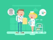 Carattere dell'infermiere e di medico royalty illustrazione gratis