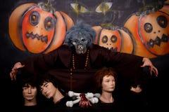 Carattere dell'uomo di Halloween fotografia stock