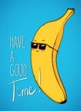Carattere della banana Fotografia Stock Libera da Diritti