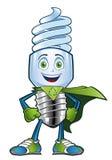Carattere della lampadina Fotografie Stock