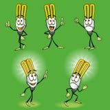 Carattere della lampadina di eco del fumetto royalty illustrazione gratis