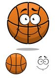 Carattere della palla di pallacanestro con un fronte sveglio Fotografia Stock Libera da Diritti