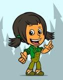 Carattere della ragazza dell'agricoltore di condizione del fumetto royalty illustrazione gratis