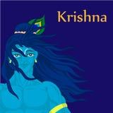 Carattere di Dio Krishna Fotografia Stock
