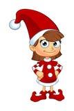 Carattere di Elf della ragazza nel rosso illustrazione di stock